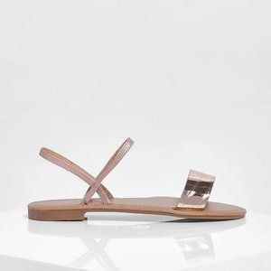 Boohoo Rose Gold Strappy Sandals Sz 8 women